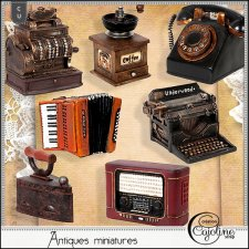 Antique miniatures by Cajoline-Scrap