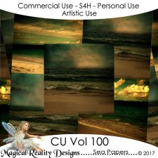 Dark Sea Papers - CU Vol 100 by MagicalReality Designs