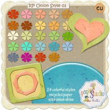Recycled Paper Styles 1 - CU Onion Skin EXCLUSIVE by PapierStudio Silke