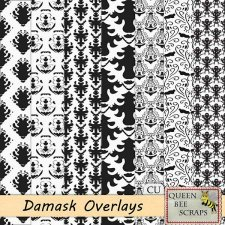 Damask Overlays Papers