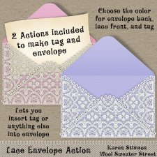 Lace Envelope Action by Karen Stimson