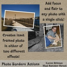 Photo Borders Actions by Karen Stimson