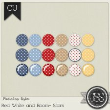 Red White and Boom Stars PS Styles by Just So Scrappy