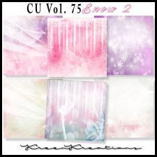 CU Vol. 75 Papers Pack Snow 2 by Kreen Kreations