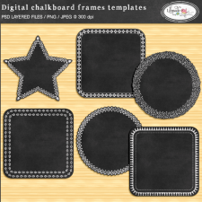 Digital chalkboard frames templates Lilmade Designs