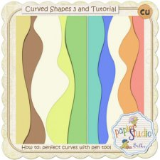 Curved Shapes 3 & Tutorial:Easy Curves with Pen Tool EXCLUSIVE by PapierStudio Silke