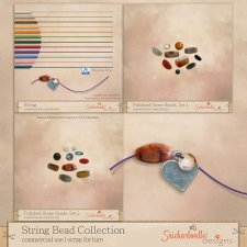 String Bead Collection by SnickerdoodleDesigns