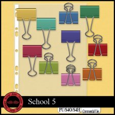 School 5 elements by Happy Scrap Art