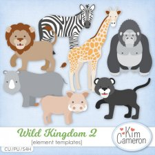Wild Kingdom 2 Templates by Kim Cameron