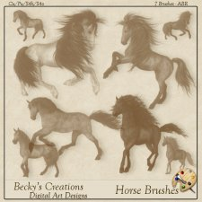 Horse Brushes - ABR - by Beckys Creations