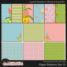 EXCLUSIVE Layered Paper Patterns Templates Set 15 by NewE Designz