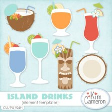 Island Drinks Templates by Kim Cameron