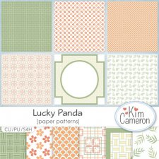 Lucky Panda Patterns Papers by Kim Cameron