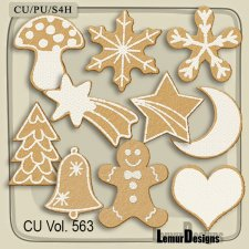 CU Vol 563 Christmas cookies by Lemur Designs