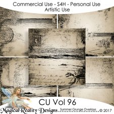 Summer Grunge Overlays - CU Vol 96 by MagicalReality Designs