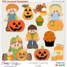 Pumpkin Carving Party Element Templates