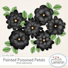 Painted Poisoned Petals by Kim Cameron