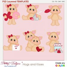 Hogs and Love Kisses Layered Element Templates