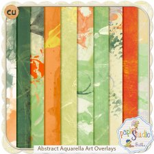 Abstract Aquarella Art Overlays EXCLUSIVE by Papierstudio Silke