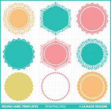 Round label templates round tag templatesLilmade Designs