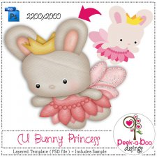 Bunny Princess Layered Template by Peek a Boo Designs
