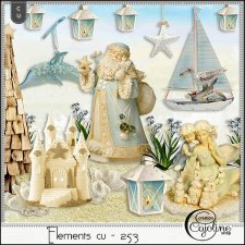 Elements CU - 253 Christmas at the beach 3 by Cajoline-Scrap