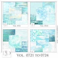 Vol. 0721 to 0724 Summer Sea Papers by D's Design