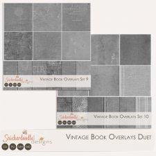 Vintage Book Overlays Duet by SnickerdoodleDesigns
