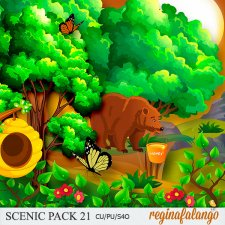 Scenic Forest Pack 21 by Reginafalango