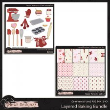 EXCLUSIVE Layered Baking Bundle Templates Bundle by NewE Designz