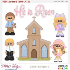 Easter Sunday 2 Layered Element Templates