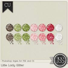 Little Lady Glitter PS Styles by Just So Scrappy