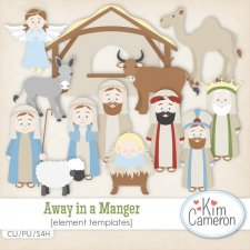Away in a Manger Templates by Kim Cameron