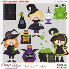 Toil & Trouble Witch's Brew Layered Element Templates