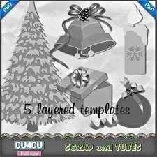 Christmas Templates 1 CU4CU by Scrap and Tubes