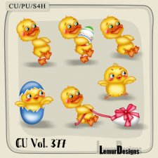 CU Vol 377 Easter Chicken Duck by Lemur Designs