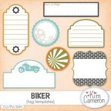Biker Tags by Kim Cameron