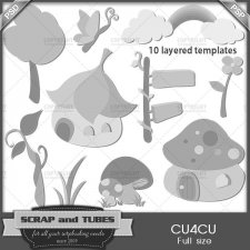Fantasy Templates CU4CU by Scrap and Tubes