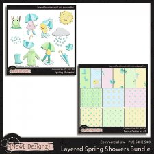 EXCLUSIVE Layered Spring Showers Templates BUNDLE by NewE Designz