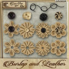 Burlap & Leather Mixed Flowers