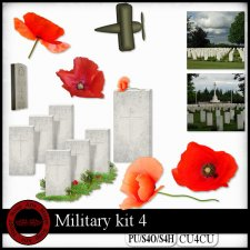 EXCLUSIVE Military 4 kit CU4CU by Happy Scrap Art