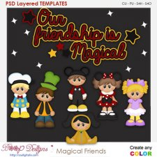Magical Friends Kids Layered Element Templates