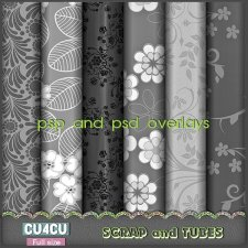Flower Overlays 3 CU4CU by Scrap and Tubes