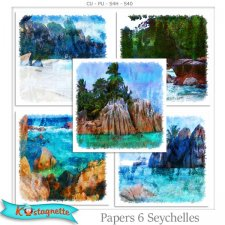 Papers pack 6 Seychelles by Kastagnette