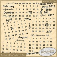Perpectual Calendar Brush Set