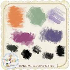 Diana Mask and Painted Bits EXCLUSIVE by PapierStudio Silke