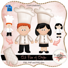Pair of Chefs Layered Template by Peek a Boo Designs