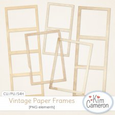 Vintage Paper Frames by Kim Cameron