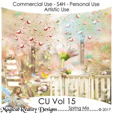 Spring Mix - CU Vol 15 by MagicalReality Designs
