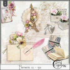 Elements CU - 301 Vintage inspiration by Cajoline-Scrap
